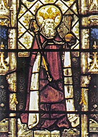 King Ethelbert of Kent, from a stained glass window at All Souls, Oxford
