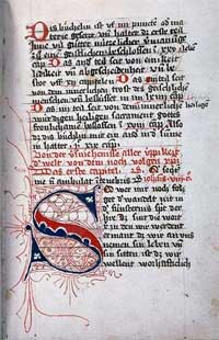 "page from illuminated ""Imitation of Christ"""