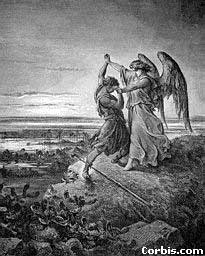 Jacob wrestling with the Angel, by Dore