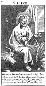 St. Luke, from an old Book of Common Prayer