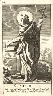 St. Philip, from a 1708 Book of Common Prayer