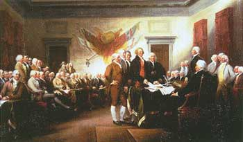 Signing of the Declaration of Independence, by John Trumbull