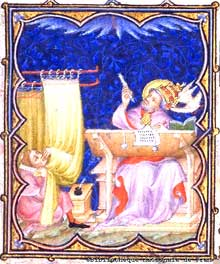 Manuscript illumination of Gregory the Great
