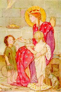 Queen Margaret of Scotland with children