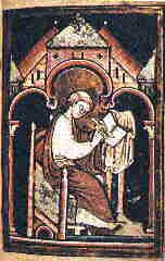 Old painting of St. Cuthbert